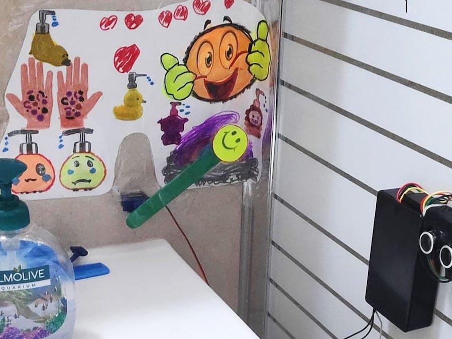 Fun Coronavirus Kids Soap Clock