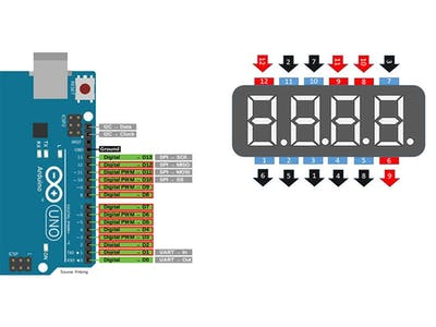 Arduino Seven Segments Counter