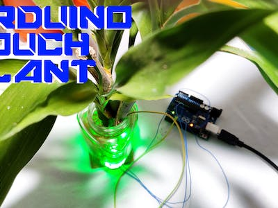 Touch sensitive arduino plant