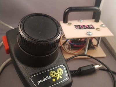 Old Atari Paddle Joystick as a Chiptune Sequencer