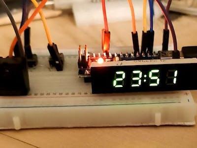 Arduino Nano 7SEG clock (RTC)+ temp. + humid