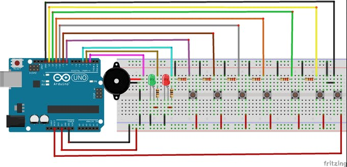 Figure 2 - Electronic Schematic in the Breadboard.