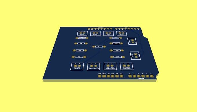 Figure 9 - 3D PCB Design.