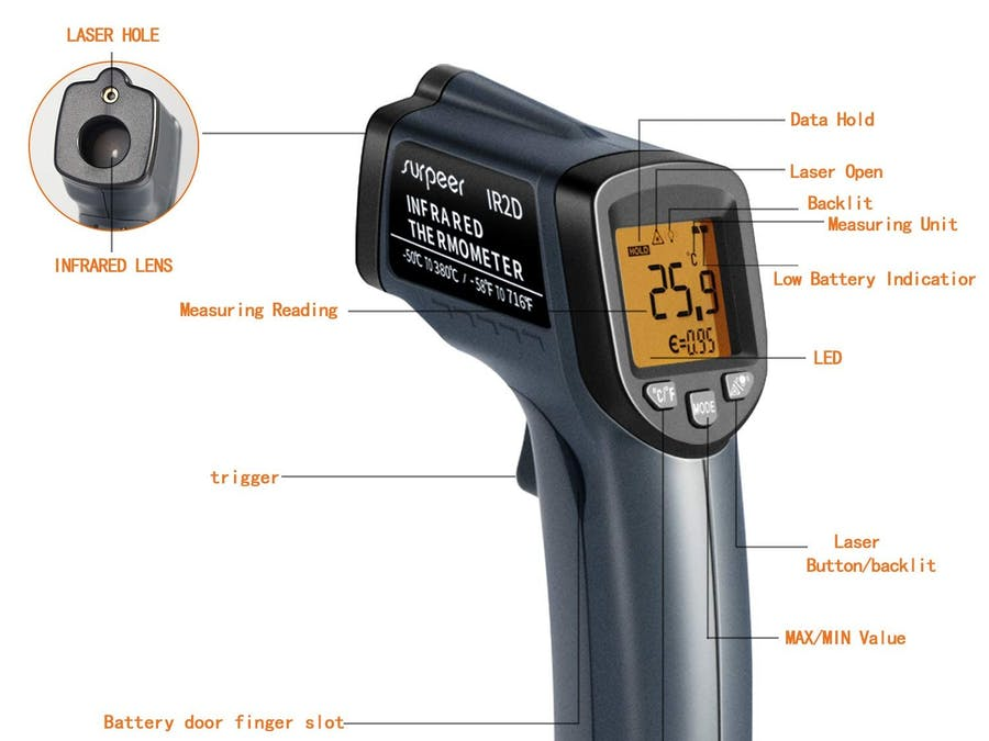 DIY Arduino + GY-906 Infrared Thermometer