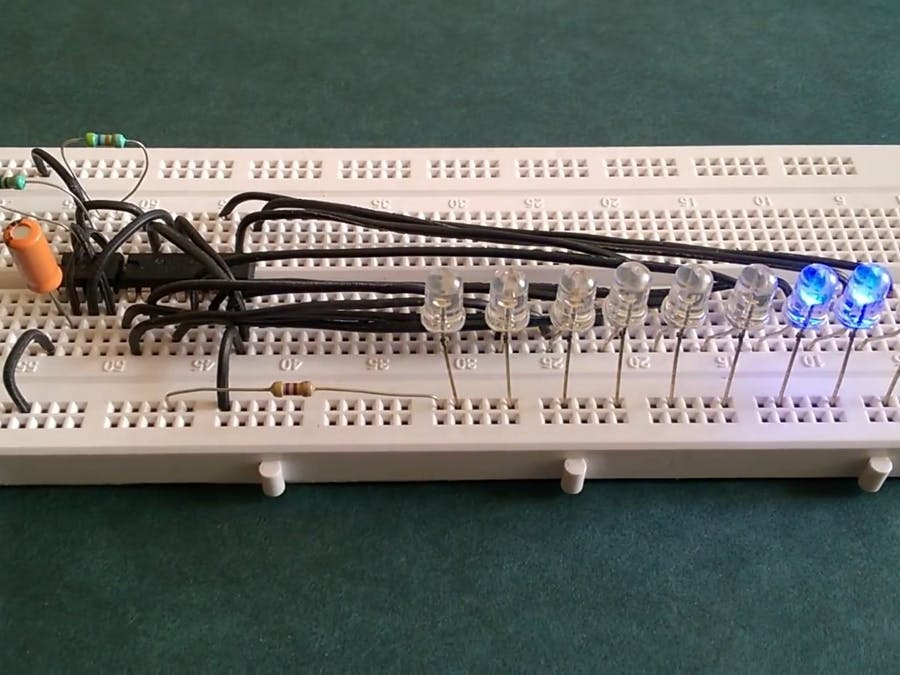 LED Chaser Electronic Circuit Using 555 Timer IC