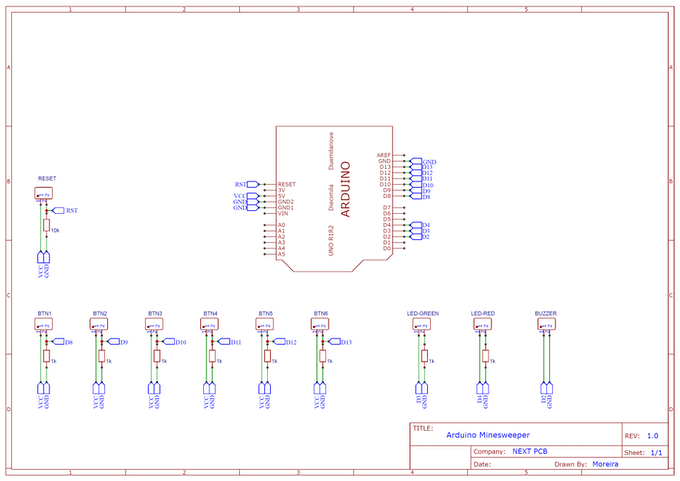Figure 7 - Electronic Schematic of the Project.
