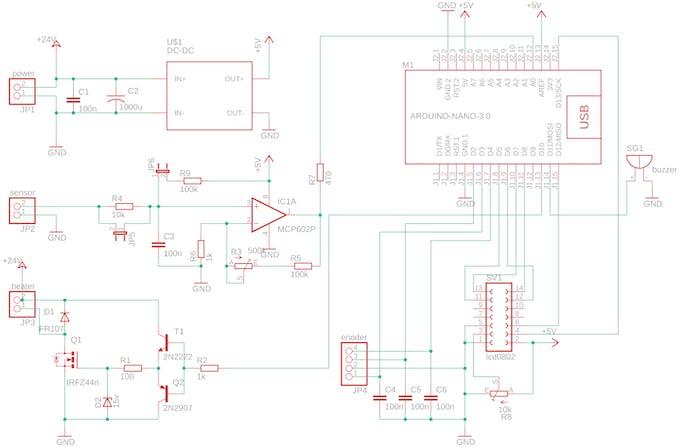 The complete controller schematics