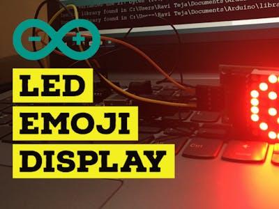 Arduino LED matrix 8X8 display MAX7219 || LED EMOJI Display