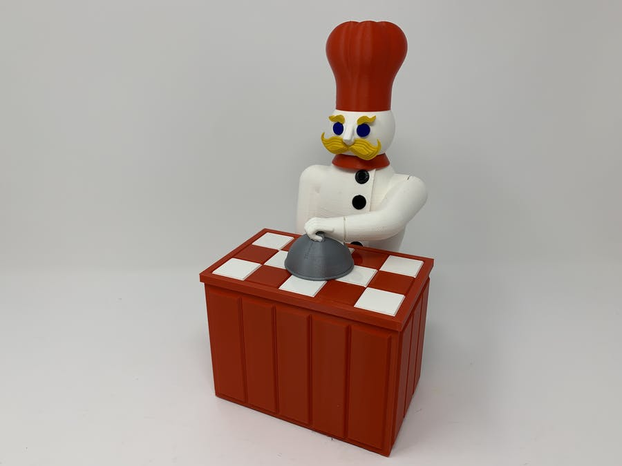 "The ""Magic Chef,"" a 3D Printed Automaton"
