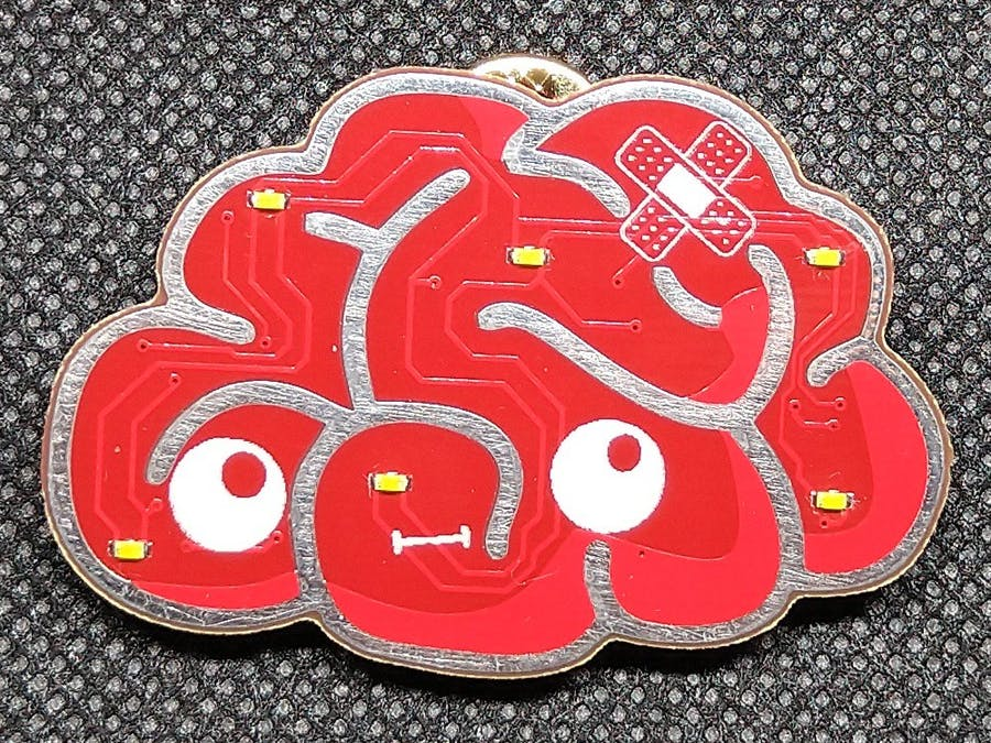 Brainy - The PCB Badge