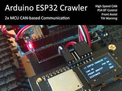 Arduino ESP32 Crawler Powered by CAN