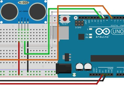 Arduino UNO Rev3 ultrasonic distance measurement