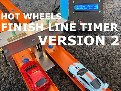 Hot Wheels Finish Line and Race Timer