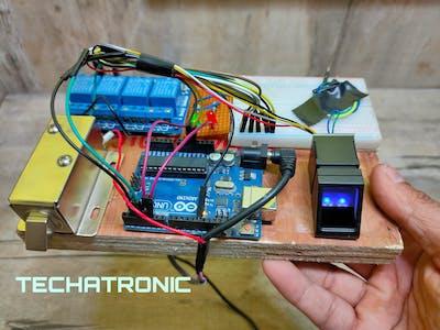 Arduino fingerprint security lock