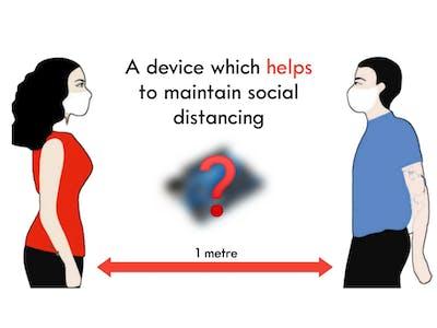 Social distancing alarm using arduino