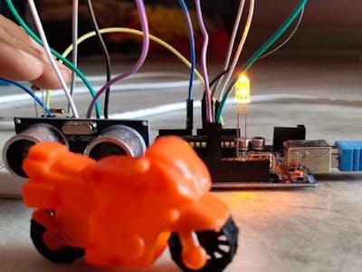 Smart Street Lights Using LDR and ultrasonic sensor