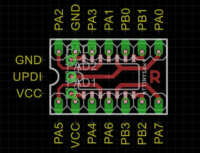 Adapter board for a ATtiny1614