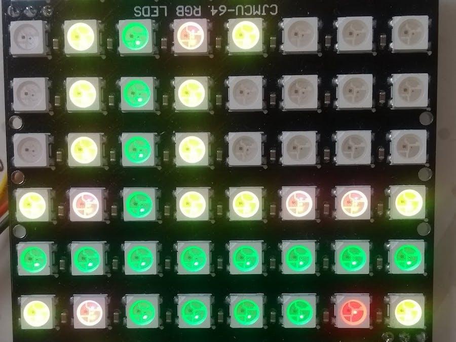 Arduino Game - Minesweeper with 8x8 Neomatrix