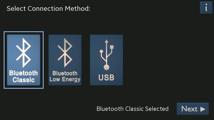 Click on Bluetooth Classic