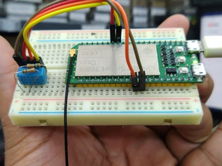 DHT12 Sensor with Linkit Smart 7688 Duo using Python