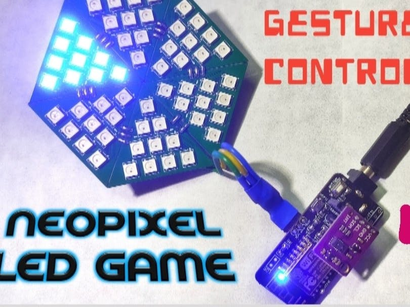 Gesture Control NeoPixel LED Game