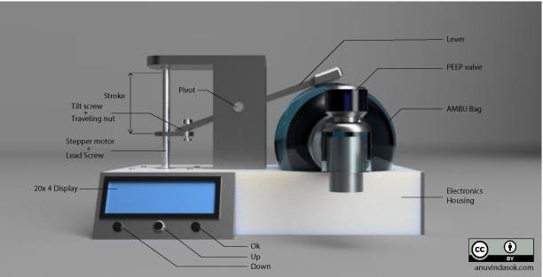 conceptual design of emergency ventilator mark1