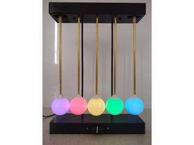 NeoPixel Newton Light Cradle