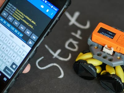 Bluetooth programmable mecanum wheel robot
