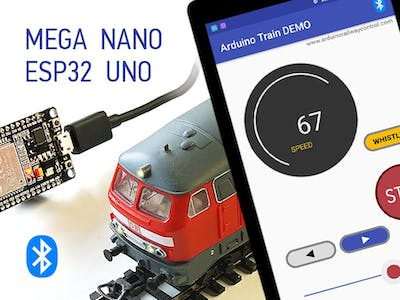 Arduino Train Demo for ESP32, NANO, UNO and MEGA