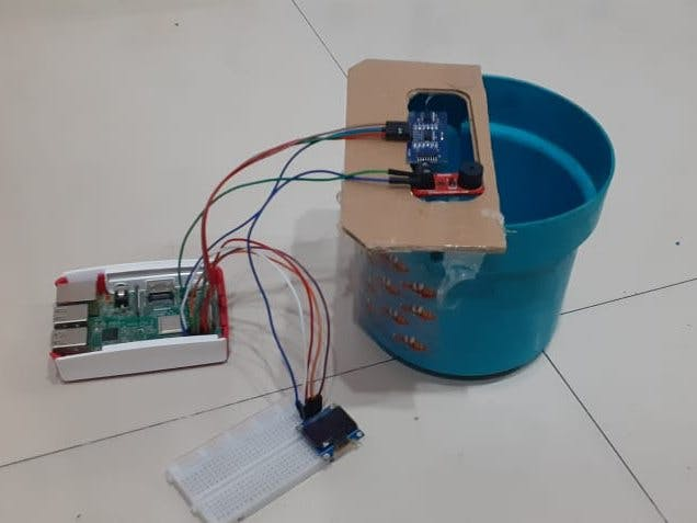 Water Level Monitor With Oled Display Using Raspberry Pi