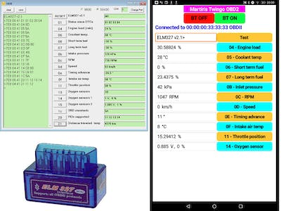 OBD2 apps for PC and Android, Simulator