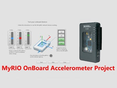 NI MyRIO Labview OnBoard Accelerometer Project