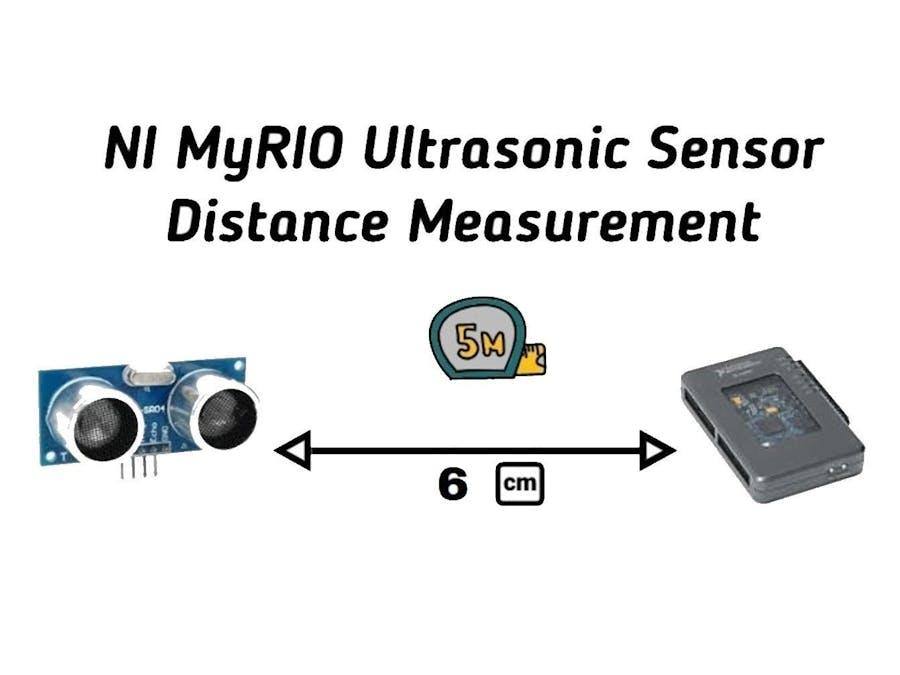 NI LabVIEW MyRIO Ultrasonic Sensor Distance Measurement