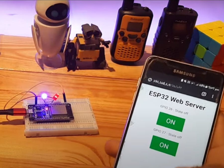 WiFi ESP32 LED Control Project
