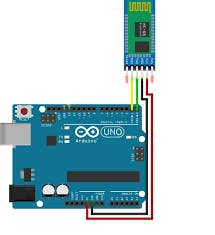 Arduino to HC-05 Basic Connections