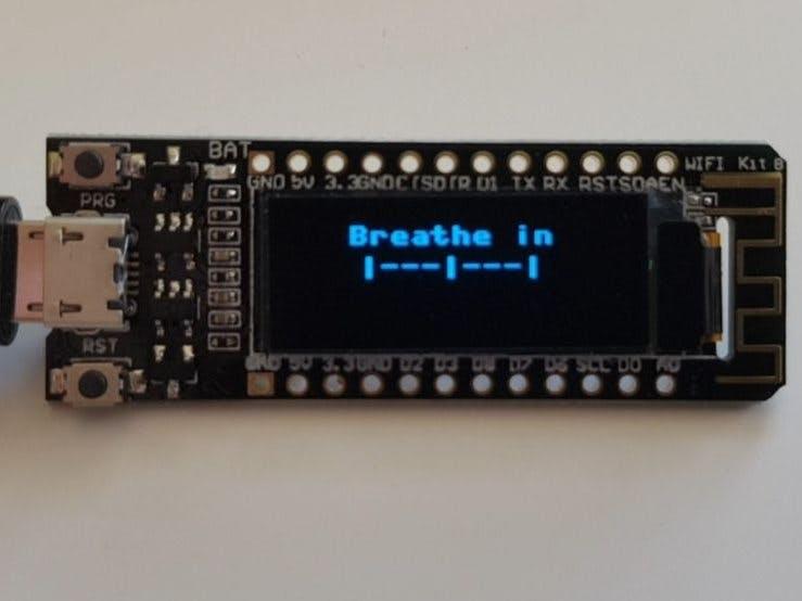 Breathing Meditation - ESP8266 OLED MicroPython