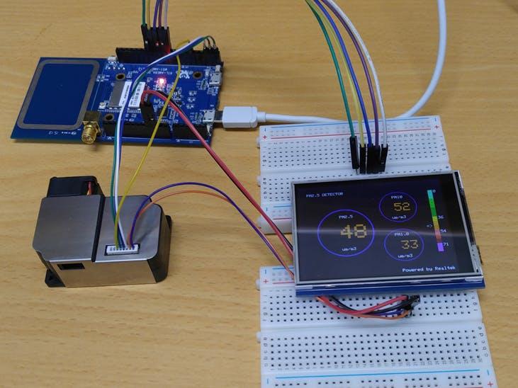 Air quality Monitoring LCD - Realtek Ameba RTL8195