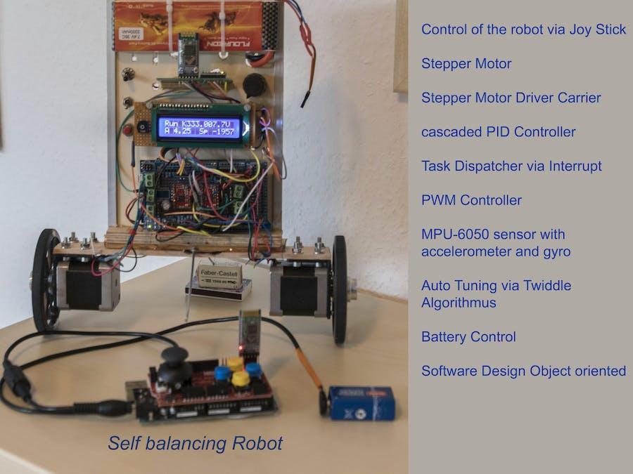 Two wheeled self balancing robot (redesign)