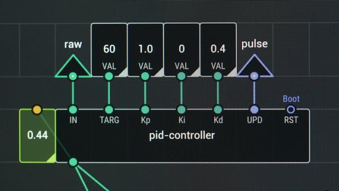 PID node for temperature control