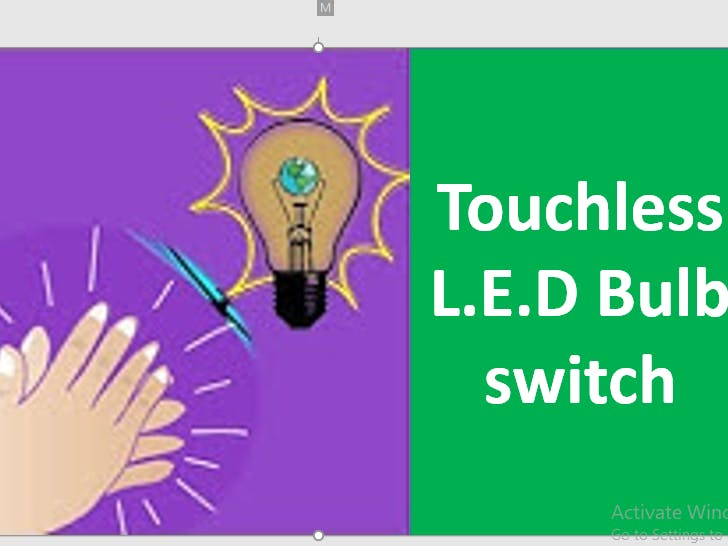 Touchless L.E.D Bulb switch/Safe from infection/clapcontrol