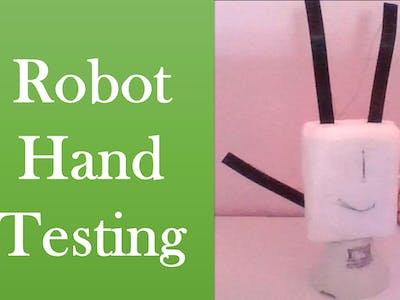 Robot Hand Testing/Circuit playground/#smartcreativity