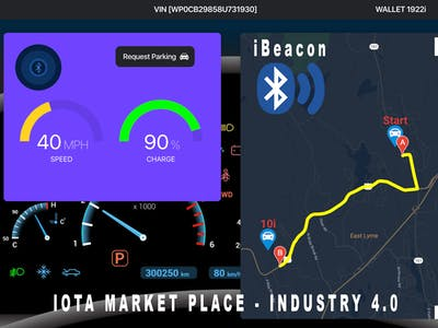 Industry 4.0 Car Parking Marketplace (IOTA+iBeacon+ML)