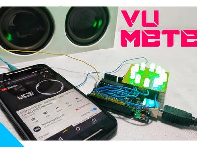 Simple Vu Meter Using Arduino
