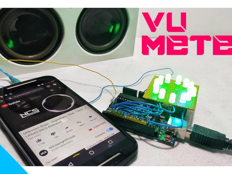 Simple Vu Meter Using Arduino