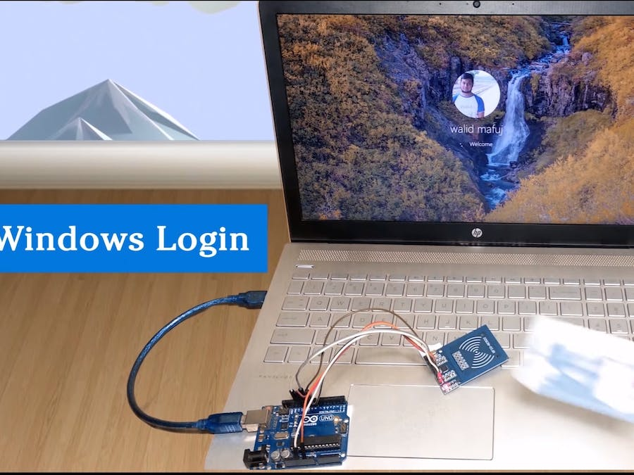 Arduino uno RFID security system for PC / laptop