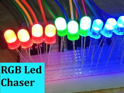Multiple RGB Led Chaser Using Arduino Uno