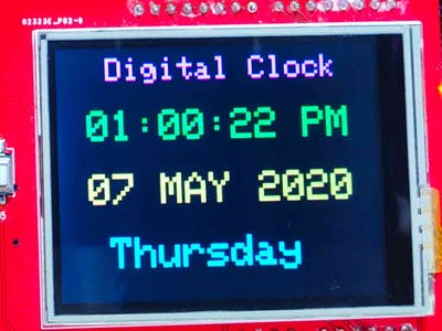 Arduino 12 hour Format Clock with TFT Display