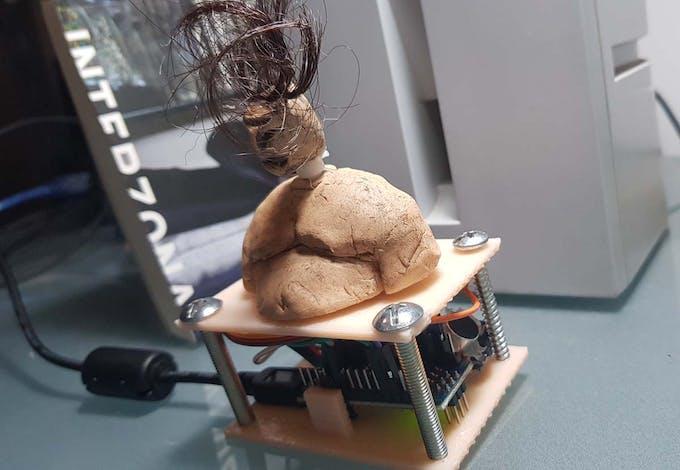 Dancing head animatronic with Arduino Nano