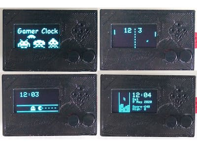 Retro Gamer Clock