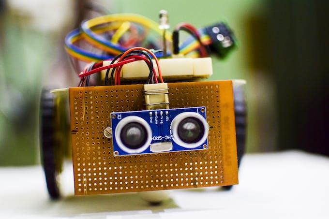 HC-SR04 Ultrasonic Sensor Module.